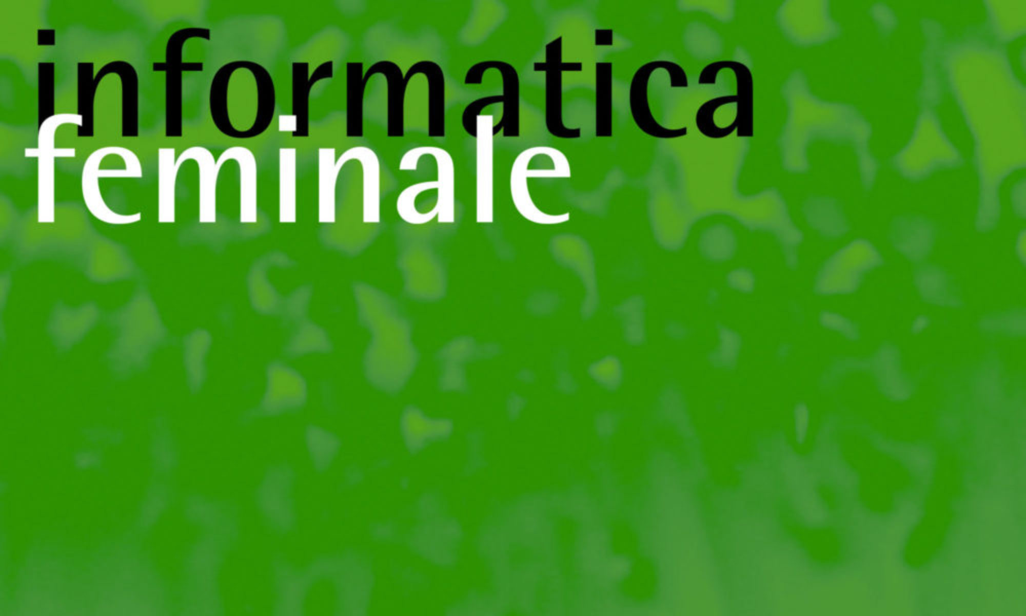 22. Informatica Feminale
